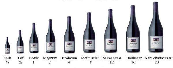 Grote wijnflessen