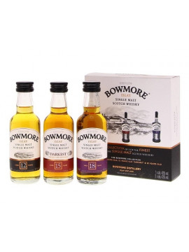 Bowmore 3 x 5 cl ( 12/15/18 Years)