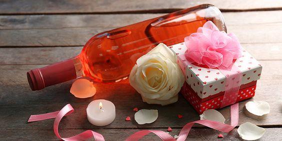 Valentien met roze wijn www.vinopio.be