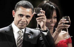 Obamas Michelle en President rode wijn www.vinopio.be